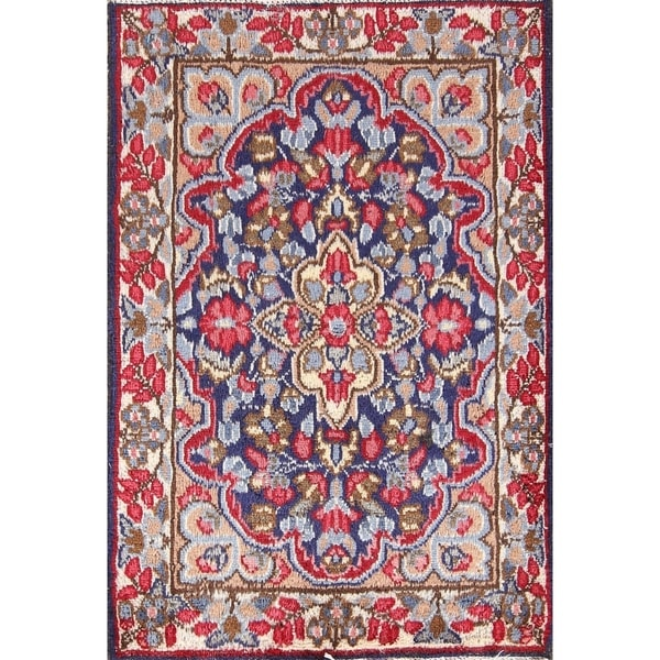 100 Wool Persian Area Rug: Shop Handmade 100% Wool Floral Kerman Persian Carpet Area