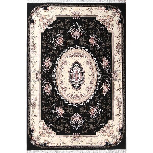 "Copper Grove Zodeia Acrylic/Wool Soft Plush Floral Persian Carpet Area Rug - 9'9"" x 6'8"""