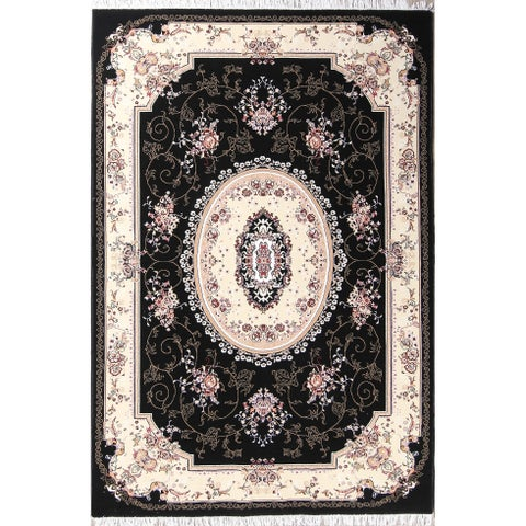 "Copper Grove Zodeia Acrylic/Wool Soft Plush Floral Persian Carpet Area Rug - 9'9"" x 6'8"""