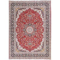 Gracewood Hollow Balients Wool Blend Soft Plush Floral Persian Area Rug - 12'11 x 9'4