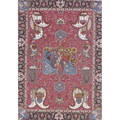 Copper Grove Starup Soft Pile Acrylic and PP Animal Pictorial Persian Style Heirloom Item Area Rug - 12'7 x 9'