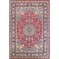 "Vintage Floral Najafabad Hand Knotted Persian Area Rug For Living Room - 12'2"" x 8'5"""