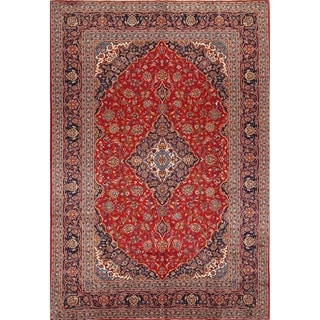 "Handmade Traditional Floral Wool Persian Vintage Medallion Area Rug - 12'11"" x 8'10"""