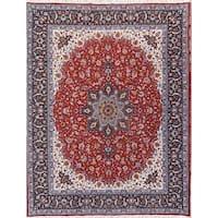 Gracewood Hollow Kretatsi Wool Blend Plush Persian Area Rug - 12'6 x 9'8