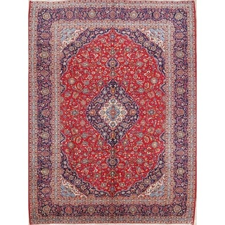 """Handmade Floral Traditional Persian Vintage Dining Room Wool Area Rug - 13'2"""" x 9'10"""""""