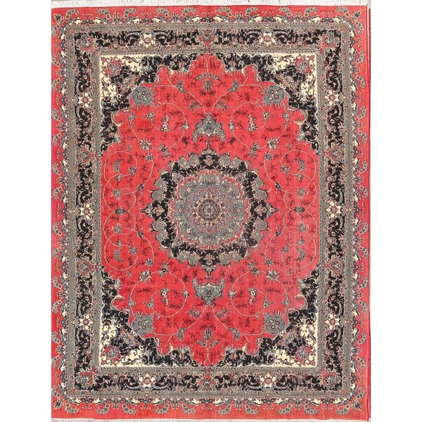 "Acrylic/Wool Soft Plush Persian Floral Carpet Area Rug - 12'8"" x 9'7"""