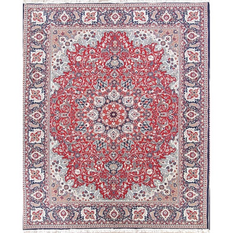 "Acrylic/Wool Soft Plush Floral Persian Bedroom Carpet Area Rug - 12'8"" x 9'9"""