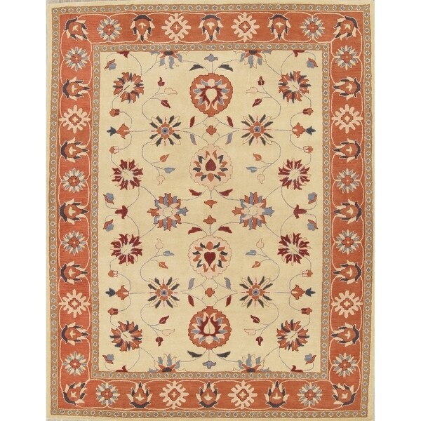 Shop Oushak Floral Tufted Wool Persian Oriental Area Rug: Shop Hand Tufted Wool Floral Oushak Oriental Dining Room