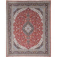 "Soft Plush Acrylic/Wool Persian Living Room Floral Carpet Area Rug - 12'9"" x 9'10"""