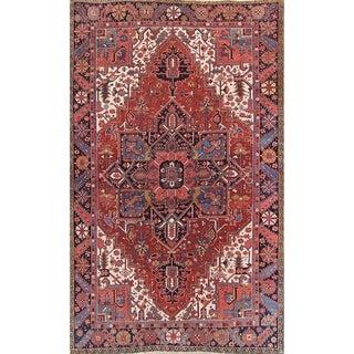 "Antique Oriental Heriz Hand Knotted Woolen Persian Area Rug Carpet - 10'8"" x 8'2"""