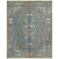 """Acrylic and Wool Pictorial Print Persian Area Rug For Living Room - 13'0"""" x 9'9"""""""