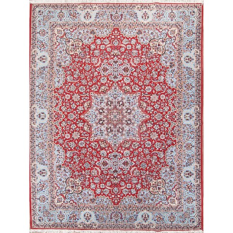 "Copper Grove Kampos Acrylic/Wool Floral Soft Plush Najafabad Persian Living Room Area Rug - 12'9"" x 9'8"""