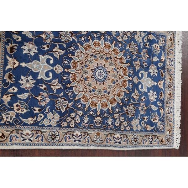 Hand Knotted Wool Nain Persian Fl Carpet Area Rug