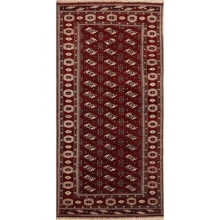 "Vintage Hand Knotted Wool Oriental Balouch Persian Carpet Area Rug - 12'11"" x 6'4"""