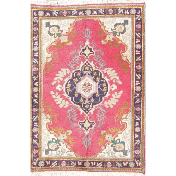Shop Classical Kashan Medallion Hand Knotted Persian Wool: Shop Hand Knotted Wool Oriental Medallion Tabriz Persian