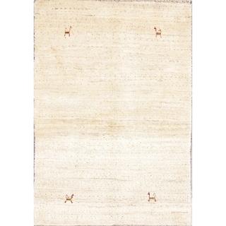 "Hand Knotted Woolen Gabbeh Shiraz Persian Bedroom Area Rug Oriental - 4'11"" x 3'5"""