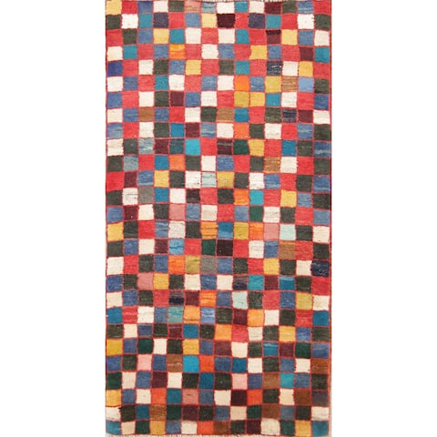 "Strick & Bolton Yuna Checkered Wool Runner Rug - 5'6"" x 2'11"" runner"