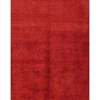 "Hand Made Wool Solid Gabbeh Shiraz Persian Carpet Area Rug - 5'9"" x 3'11"""