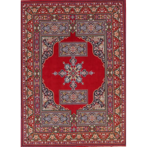 Gracewood Hollow Tindyebwa Wool Blend Floral Persian Area Rug - 13'1 x 9'7