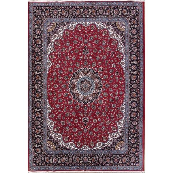 """Gracewood Hollow Aslanian Wool Blend Floral Persian Persian Rug - 13'3"""" x 9'7"""""""