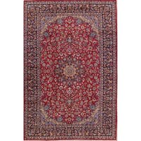 """Hand Knotted Woolen Vintage Najafabad Persian Carpet Area Rug - 12'6"""" x 8'5"""""""