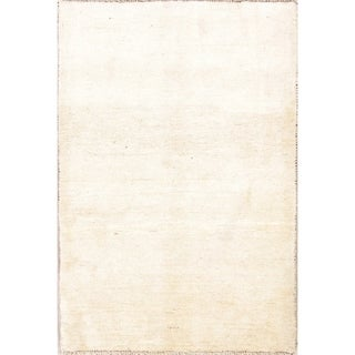 """Hand Knotted Wool Solid Gabbeh Shiraz Persian Modern Carpet Area Rug - 5'0"""" x 3'5"""""""