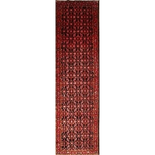 """The Curated Nomad Giulia Hand-knotted Wool Geometric Persian Heirloom Item Area Rug - 14'2"""" x 4'0"""" runner"""
