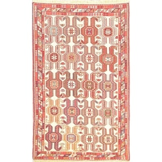 "Hand Woven Wool Oriental Kilim Sumak Persian Area Rug For Dining Room - 6'3"" x 3'9"""