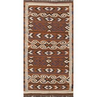 "Copper Grove Vejen Hand Woven Wool Geometric Persian Rug - 5'11"" x 3'3"" runner"