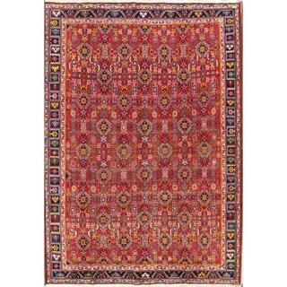 "Handmade Wool Geometric Kashkoli Shiraz Persian Vintage Area Rug - 9'8"" x 6'9"""