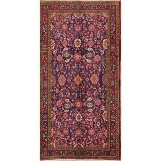 "Hand Knotted Floral Wool Nanaj Persian Rug For Entryway - 10'4"" x 5'4"""