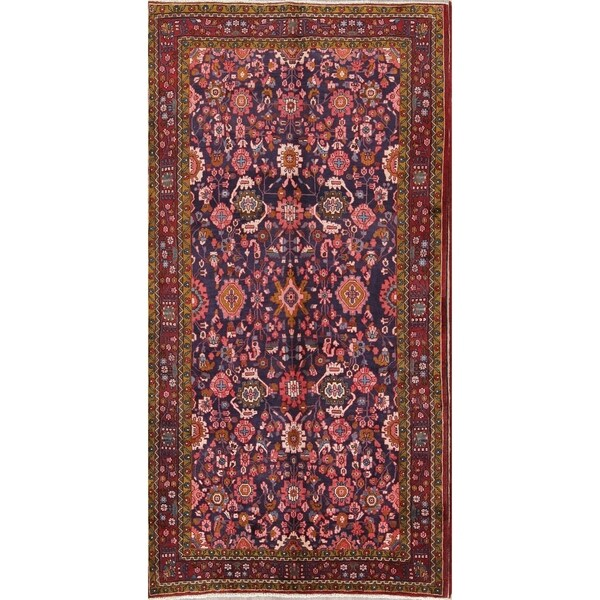 "Copper Grove Plzen Hand-knotted Floral Wool Nanaj Persian Heirloom Item Area Rug - 10'4"" x 5'4"""