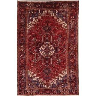 "Hand Made Wool Oriental Heriz Persian Carpet Area Rug - 9'11"" x 6'6"""