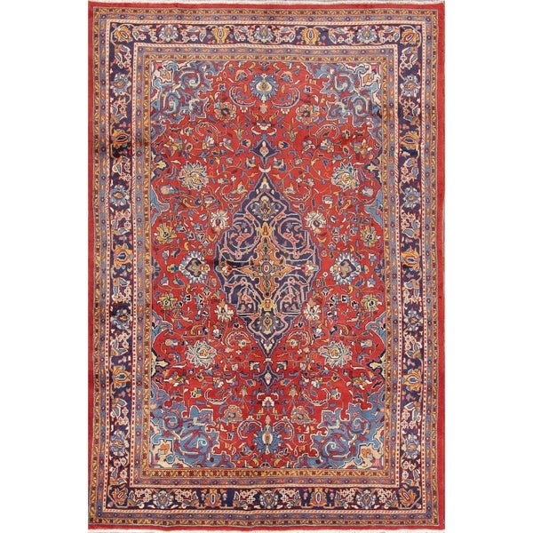 Hand Knotted Persian Wool Area Rug 5 10: Shop Vintage Hand Knotted Wool Floral Sarouk Mahal Persian