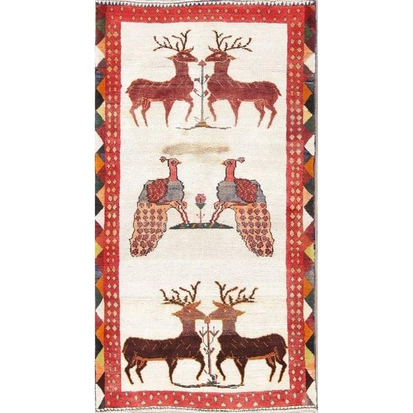 Deer Print Gabbeh Shiraz Persian