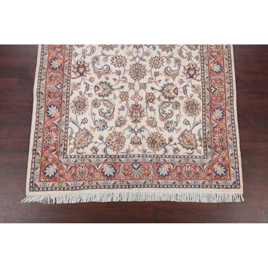 Hand Knotted Wool And Silk Fl Tabriz Persian Carpet Area Rug 9 11 X 6