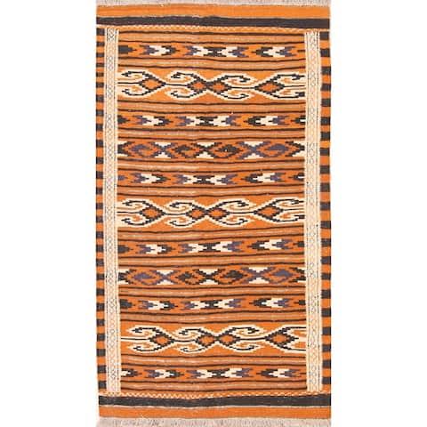 "Hand Made Oriental Hand Knotted Kilim Shiraz Persian Wool Area Rug - 5'9"" x 3'3"""