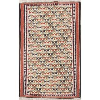 "Hand Woven Wool Oriental Kilim Senneh Persian Carpet Area Rug - 5'6"" x 3'6"""