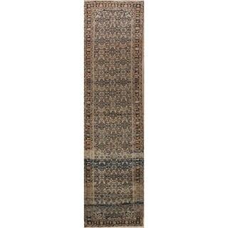 """Gracewood Hollow Ulianenko Hand-knotted Floral Wool Persian Runner Rug - 13'3"""" x 3'5"""" runner"""
