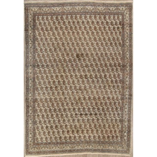 """Hand Knotted Paisley Persian Vintage Wool Area Rug - 12'3"""" x 8'9"""""""