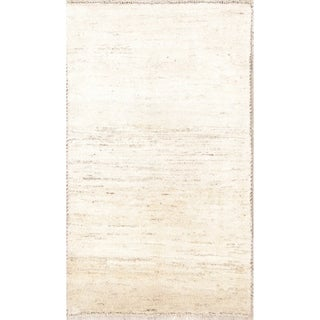 "Handmade Wool Solid Gabbeh Shiraz Persian Area Rug For Bedroom - 4'4"" x 2'7"""