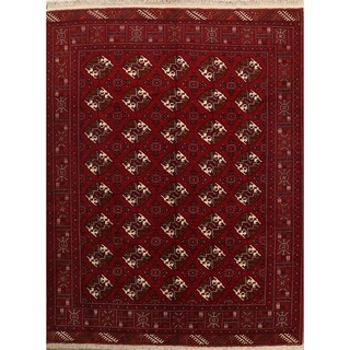 """Hand Knotted Woolen Oriental Balouch Bokhara Persian Carpet Area Rug - 9'1"""" x 7'0"""""""