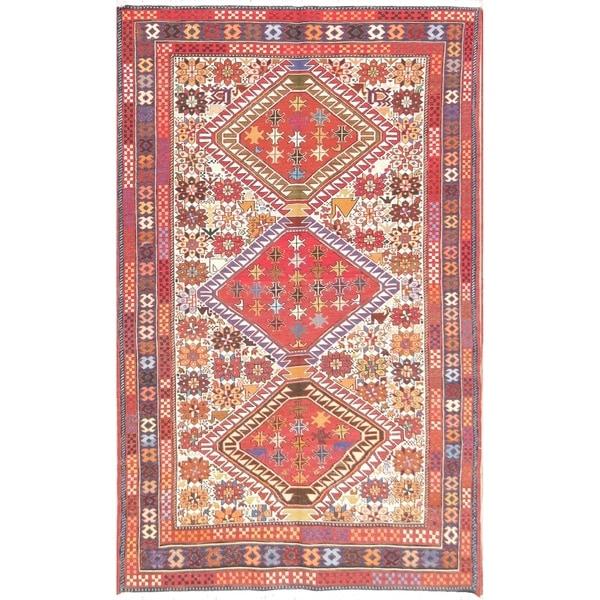 Camel Wool Rug Persian Rug Handwoven Kilim Area: Shop Hand Woven Wool / Silk Oriental Kilim Shiraz Persian