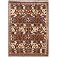 "Copper Grove Hundested Hand Woven Wool Geometric Persian Rug - 5'10"" x 3'5"" runner"