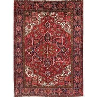 """Vintage Hand Knotted Wool Oriental Heriz Persian Dining Room Area Rug - 11'1"""" x 7'8"""""""