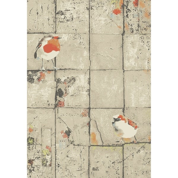 "Animal Pictorial Belgian Oriental Area Rug - 7'8"" x 11'1"""