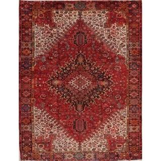 "Hand Knotted Oriental Heriz Persian Vintage Wool Carpet Area Rug - 12'2"" x 9'9"""