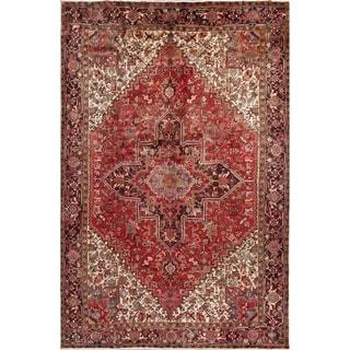 "Vintage Hand Made Wool Oriental Heriz Persian Dining Room Area Rug - 11'6"" x 7'10"""