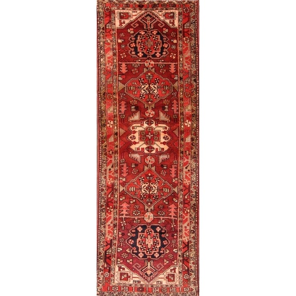 11 Ft Clical Heriz Hand Knotted Persian Rug Runner For Hallway 10 X27