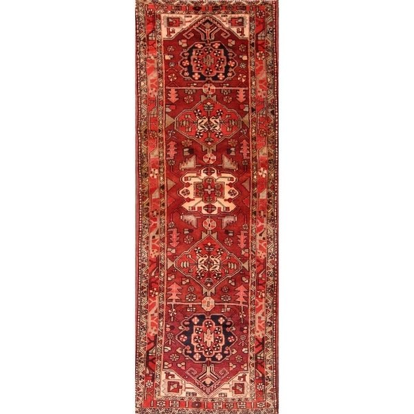 """Classical Heriz Hand Knotted Persian Rug for Hallway - 10'10"""" x"""